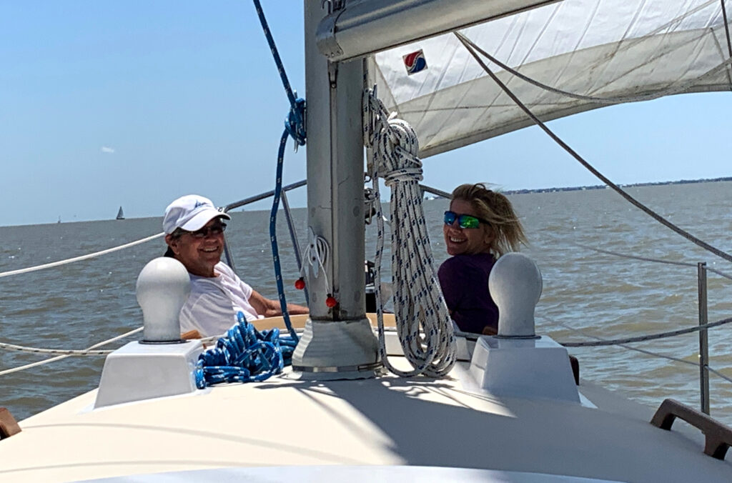 sailing on Galveston bay