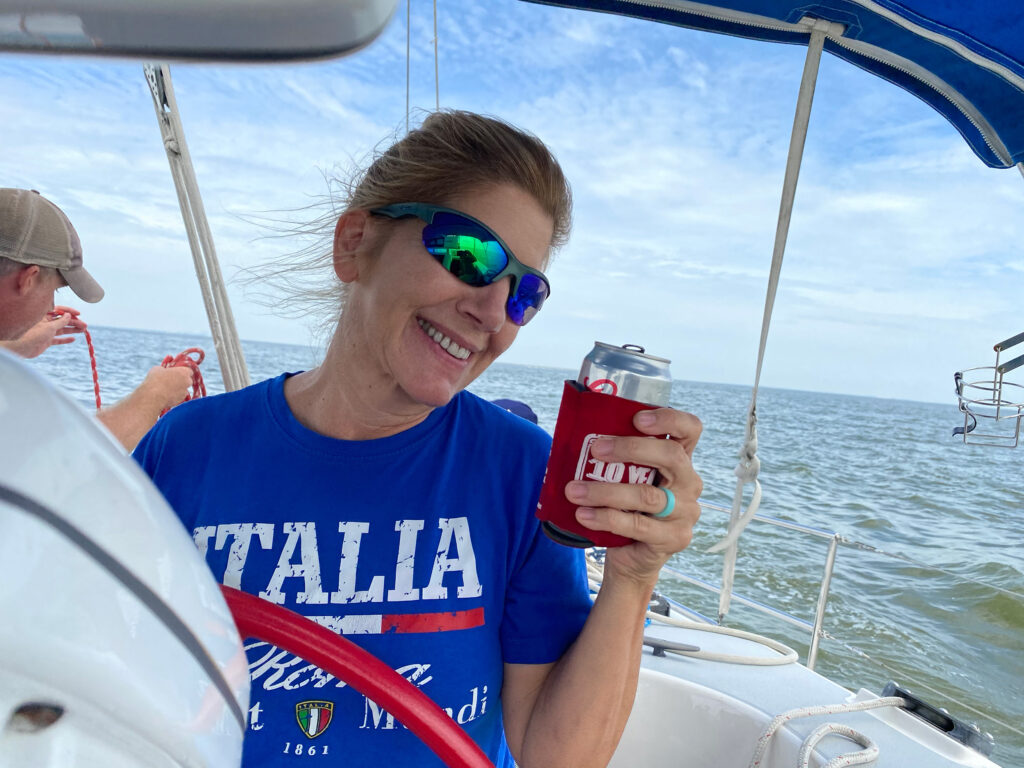Silva on the boat